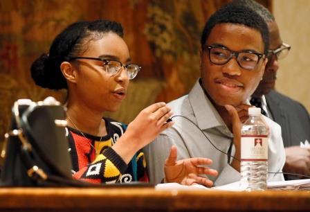 Students speak at important forum
