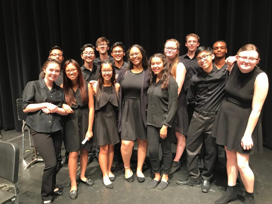 Orchestra Students Perform With Honor Group The Marionette