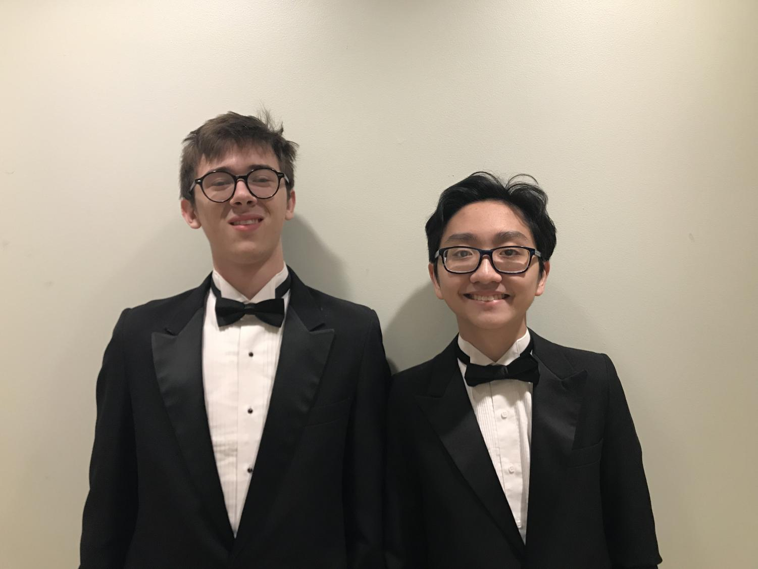 Juniors Jackson Burnette (Left) and Victor Nguyen (Right)